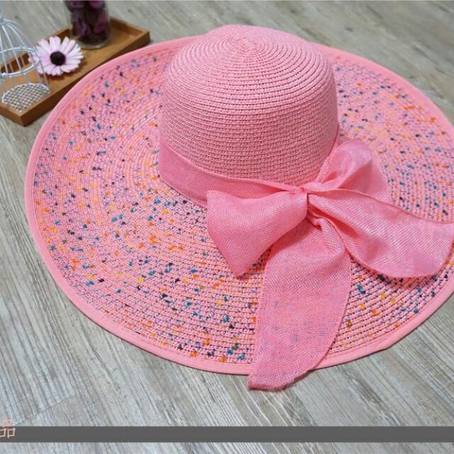 夏季繽紛色彩編織大遮陽帽 Summer hat Ca4la 參考