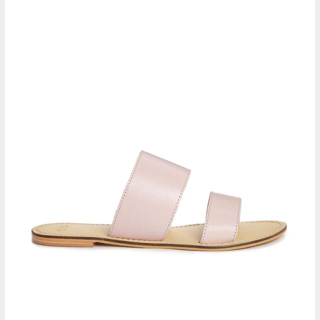 ASOS FEDERAL LEATHER SLIDERS