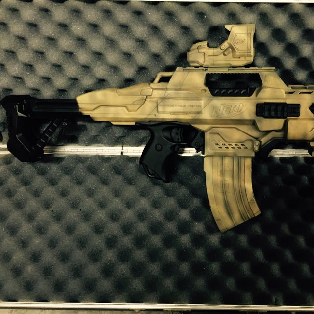 Custom-Painted-Nerf-Rival-Zeus-in-Skull-and-