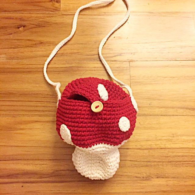 Cute Red Mushroom Sling Bag