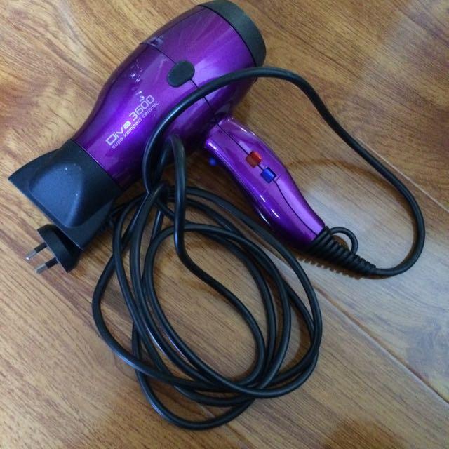 Diva 3000 Purple Ceramic Hair Dryer