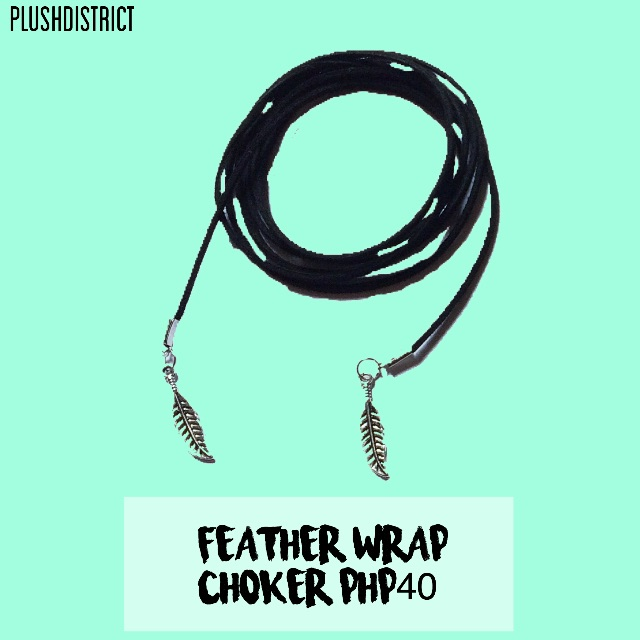 Feather wrap choker