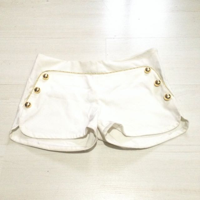 Gold Hipster Shorts