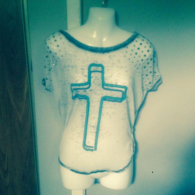 Gray Cross Shirt