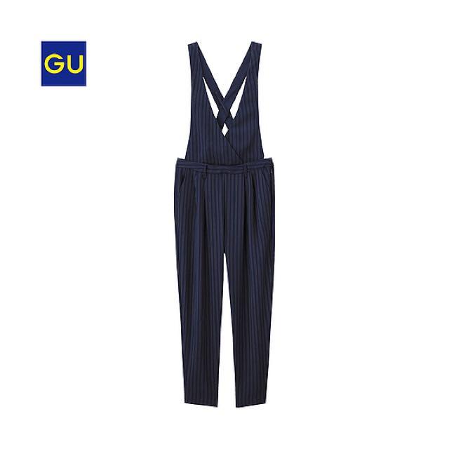 GU 連身吊帶窄管褲 M號