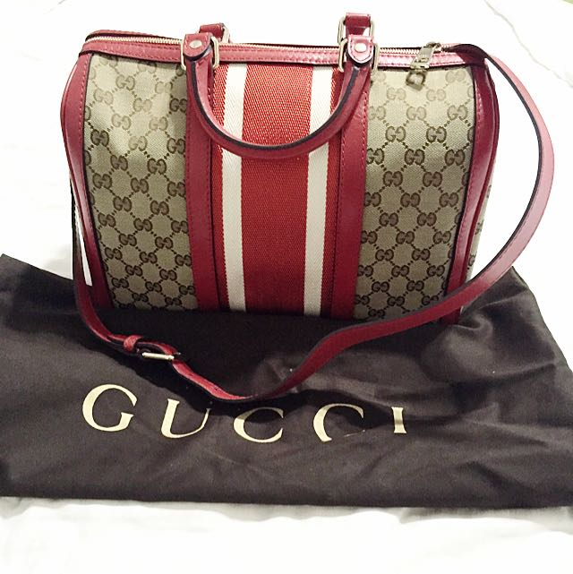 5eb745908f Gucci Vintage Web Original GG Canvas Boston Bag