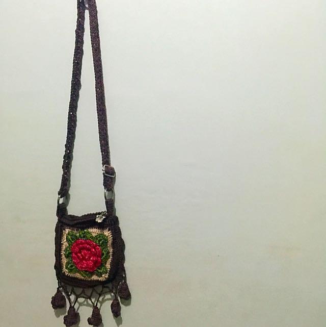 Handed Knitted Tassel Bag
