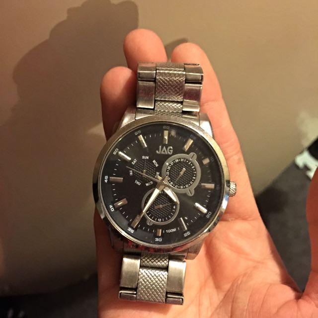 JAG Silver Watch