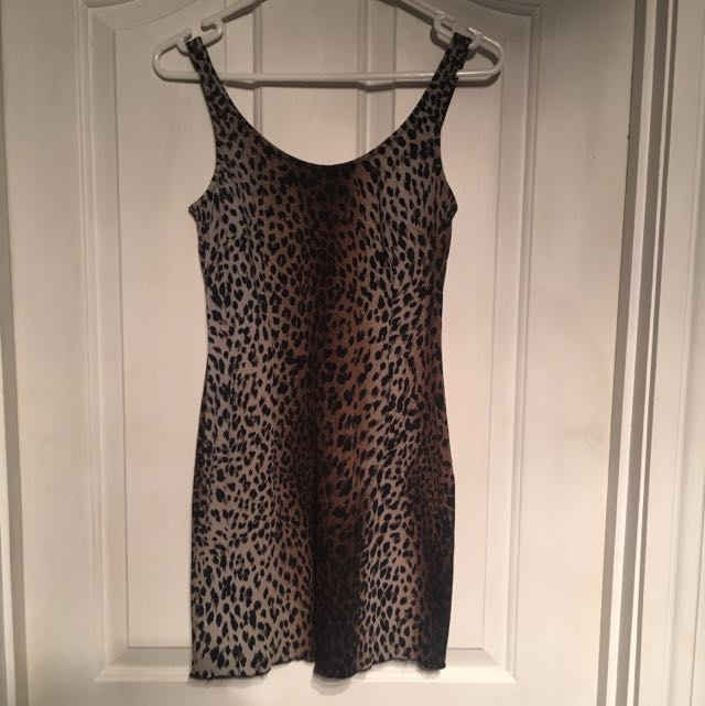 Moschino Leopard Print Mini Dress