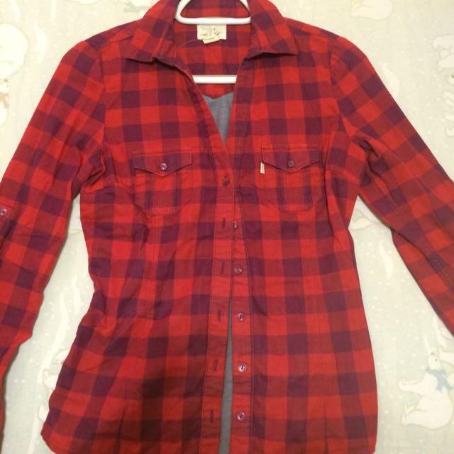 Levis Plaid Shirt