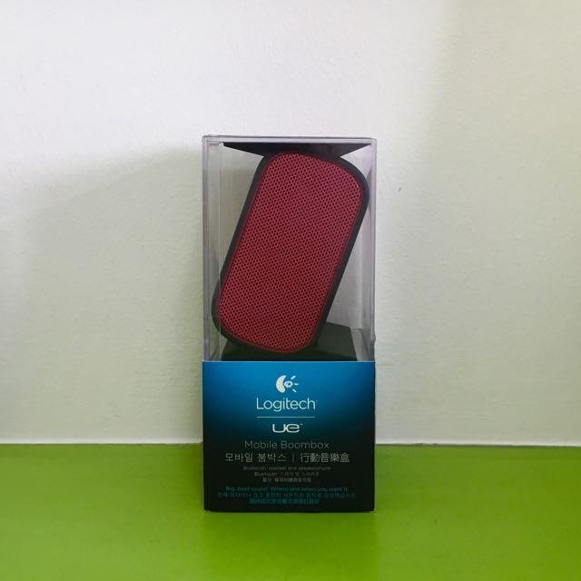 Logitech UE Mobile Boombox Bluetooth Speaker and Speakerphone (Red)