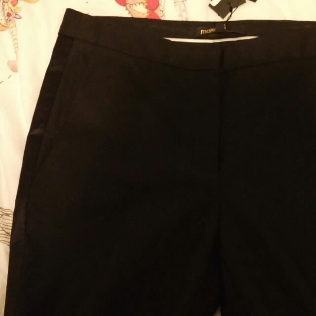 Maje Black Trouser Pants New W/Tags
