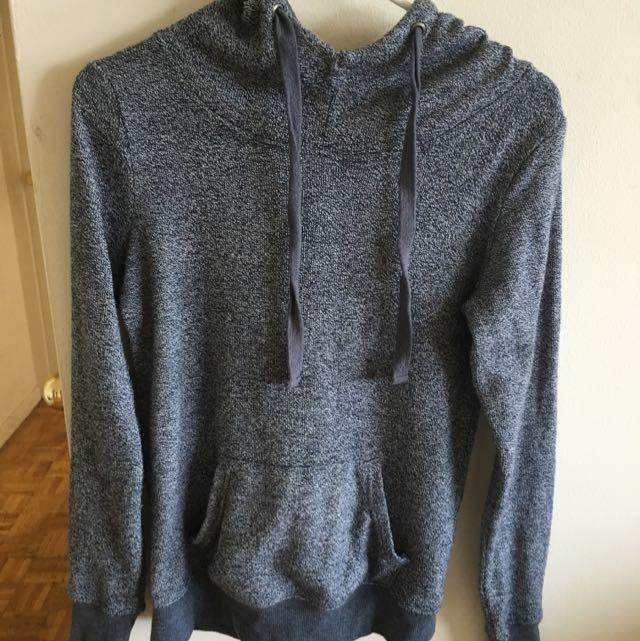 Navy Blue Tunnel Neck Sweater