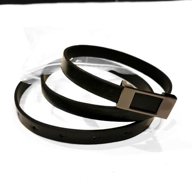 NEW Black Skinny Belt