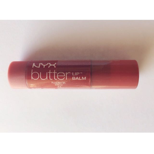 NYX Butter Lip Balm - Brownie - Moisturising Tinted Balm Gives Lips Sheer Reddish Brown Tint.