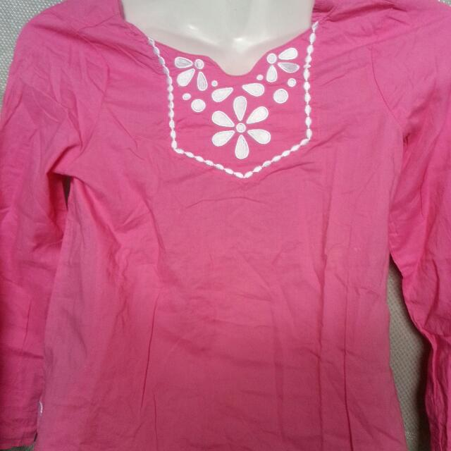 Pink Top Long Sleeves