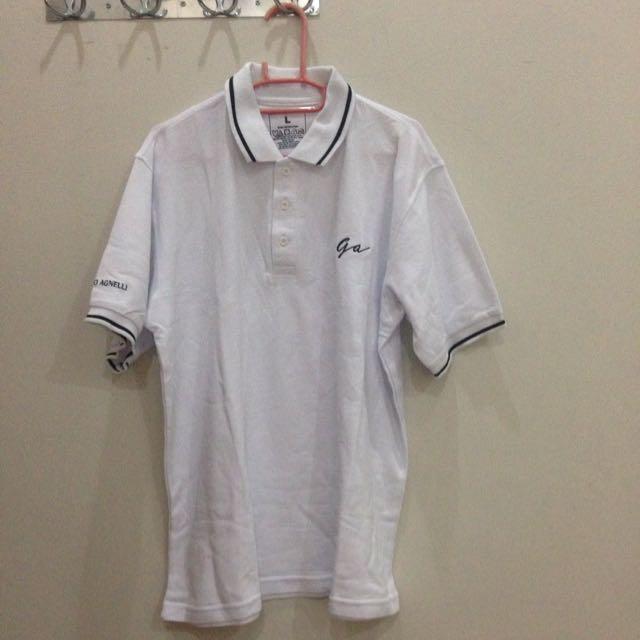 REPRICE!! Polo Shirt Giorgio Agnelli Putih