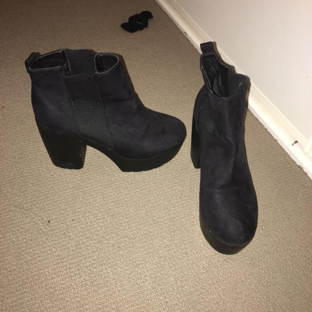 Rubi Shoes Black High Heel Boots