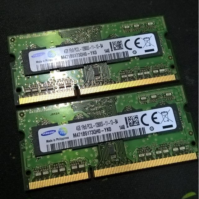 Samsung Ram Memory 8GB (2 x 4GB) DDR3L 1600MHz 1.35V SODIMM for laptops
