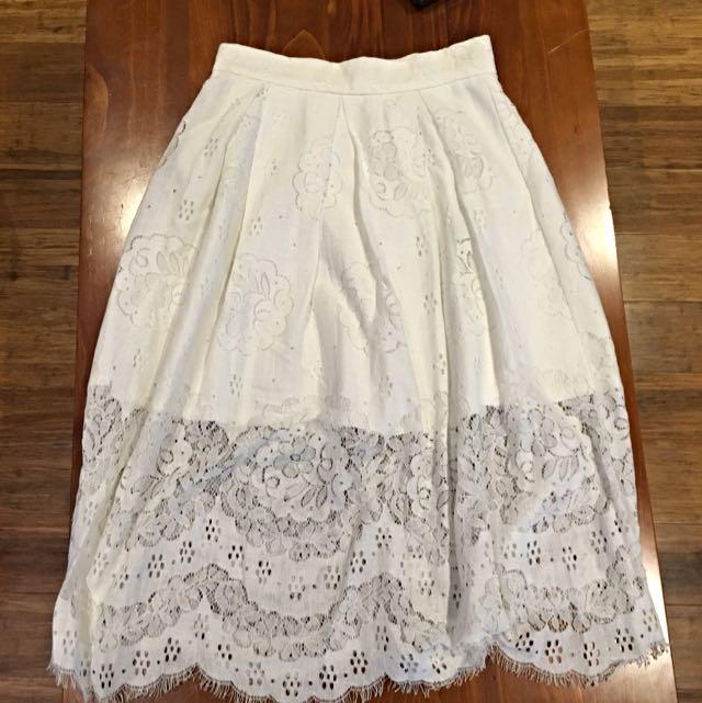 Size 8 High Waisted Blossom Skirt