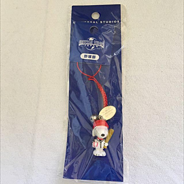 🎪超可愛snoopy棒球手機吊飾🎪(日本環球影城購入)