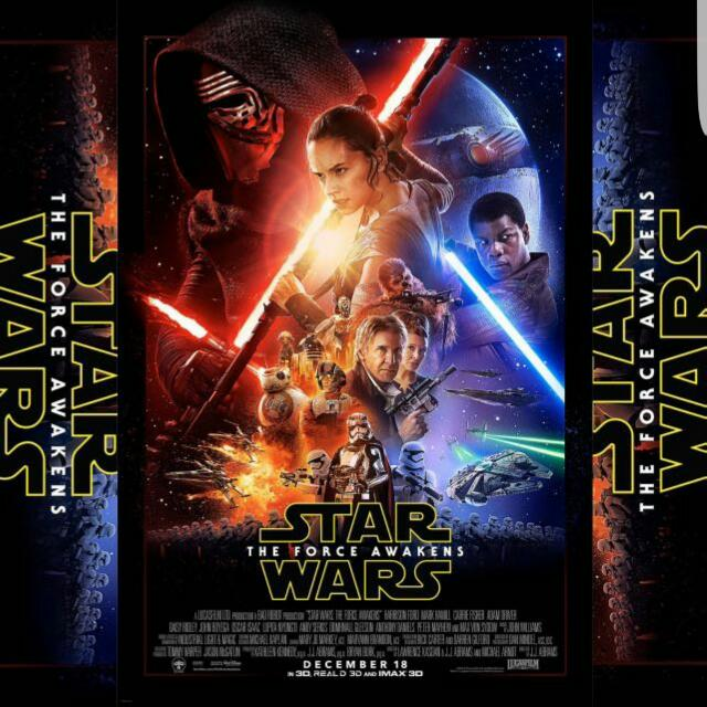 Star Wars The Force Awakens Original Double Sided Movie Poster