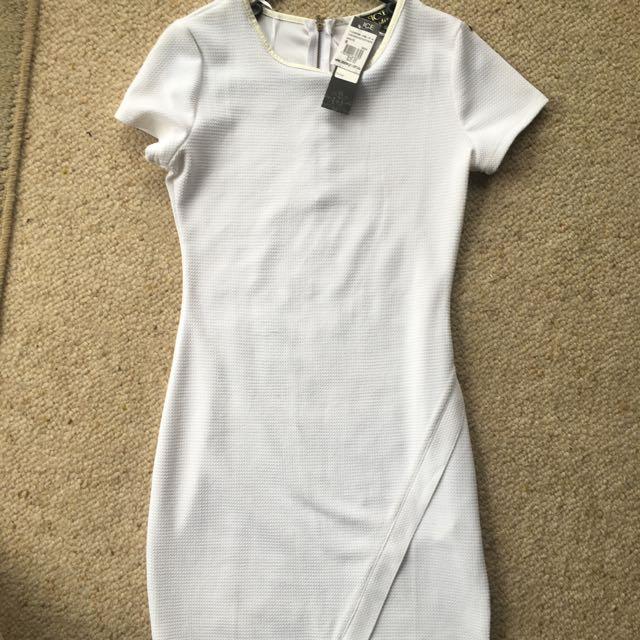 White Ice Cross Over Dress