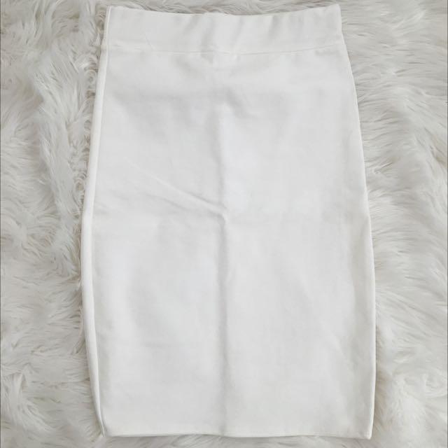 Basic White Pencil Skirt