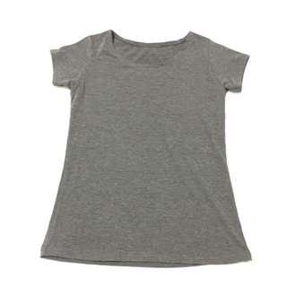 Grey Shirt Sleeve Cotton Tee