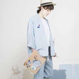 【2色/現貨】夏季款/日式和服款防曬罩衫 小外套(兩色)