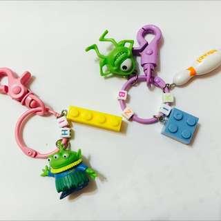 玩具總動員鑰匙圈 三眼怪 大眼仔