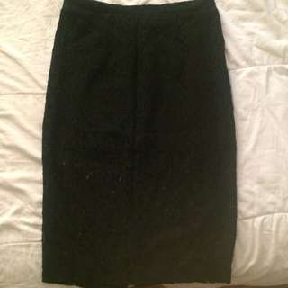 Forever21 Lace Pencil Skirt