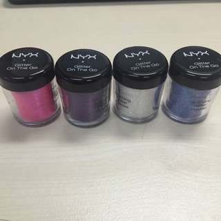Nyx Glitter On The Go - Set Of 4