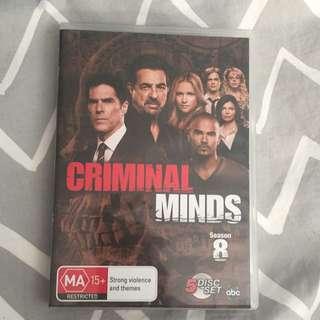 Criminal minds season 8, 5 disk set
