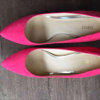 Asos Oasis Eve Sexy Pink Mid Heeled court Shoes