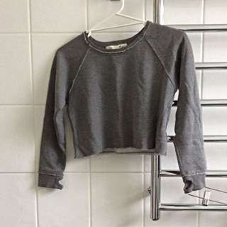 Girls Cropped Crew Jumper