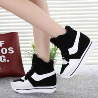 INSTOCK Colourblock Black & White Platform Sneakers