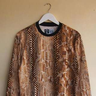 Snakeskin Print Sweatshirt