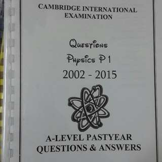 A Levels Physics Past Year Papers 1&2