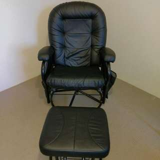 Breast feeding reclinable rocking/glider chair & ottoman