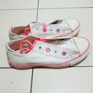 Converse White With Pink Sole