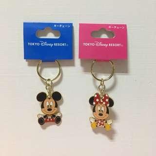 【Disney帶回】米奇米妮鑰匙圈