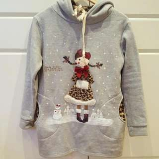 Girl And Snow Hoodie