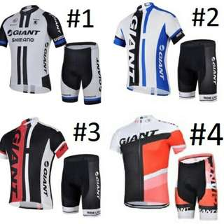 Giant Road Bike Cycling Jersey Set
