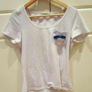 Dotty Shirt With Ribbon