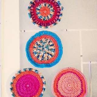 Set Of 4 Boho Coasters For Cups