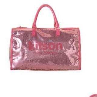 Kitson 粉紅兩片旅行袋