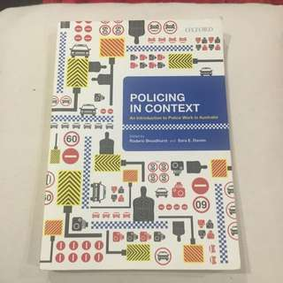 Policing In Context Textbook