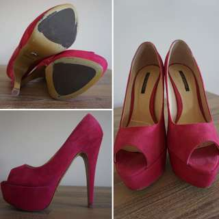 Tony Bianco Pink Suede Pumps