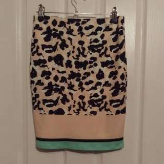 Size 6 Ava Leopard Skirt